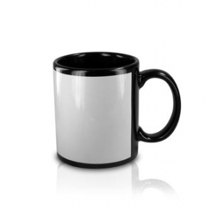 CAN MUGS-SUB BLACK WITH WHITE PANEL