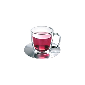 Athena Nova Double Wall Glass & Saucer 250ml