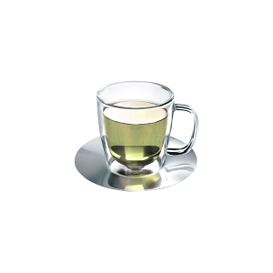 Athena Nova Double Wall Glass & Saucer 300ml