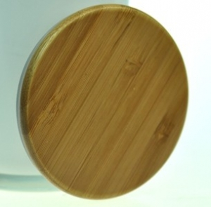 70mm Bamboo Cover With Silicon Seal To Suit Statement Candle Glass